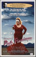 John Waters Signed Pink Flamingos 11x17 Movie Poster Jsa Coa N37875