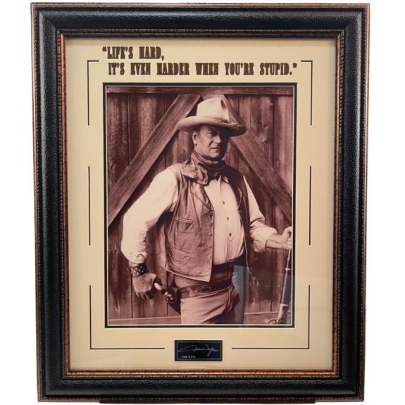 John Wayne Framed 16x20 Photo w/ Laser Signature