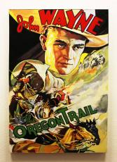"John Wayne 33×48 ""The Oregon Trail"" Giclee by Steve Kaufman"