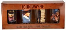 John Wayne 4 PC 16 oz Glass Set