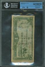 John Wayne Feb 6, 1944 Signed Japanesse One Pound Note JSA #X12793