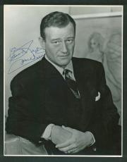 "John Wayne ""Good Luck"" Signed 10.5x13.5 Matte Photo BAS #A03175"