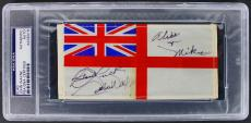 "John Wayne ""Good Luck"" Signed 3x6 Royal Navy Table Flag PSA Slabbed"