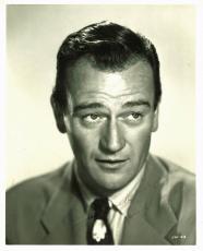 "John Wayne ""Good Luck"" Signed 8X10 Photo Autographed BAS #A03673"