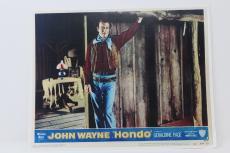 "John Wayne ""hondo"" Classic Western Film Lobby Card Good Condition !!!"