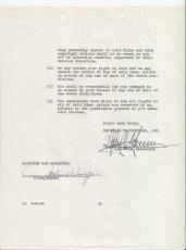 John Wayne RARE Signed Autograph Contract with Republic Productions 1948 PSA DNA