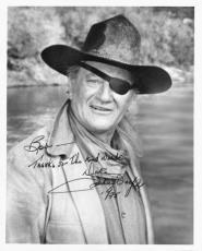 John Wayne Signed Rooster Cogburn 8X10 B/W Photo Gem Mint 10 PSA/DNA#Z09430 RARE
