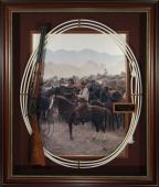 John Wayne - The Undefeated Framed Movie Prop Display