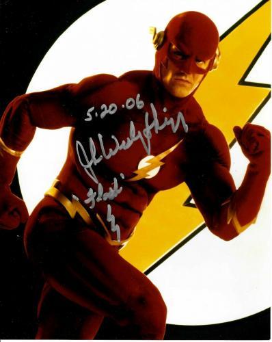 John Wesley Shipp Signed The Flash 8x10 Photo