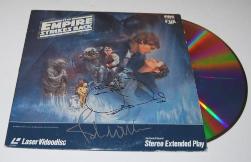 JOHN WILLIAMS and ANTHONY DANIELS signed *STAR WARS* LASERDISC W/COA
