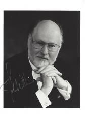 "JOHN WILLIAMS - COMPOSER/CONDUCTOR/PIANIST - He Composed Film Scores that Includes ""STAR WARS"", ""JAWS"", and ""CLOSE ENCOUNTERS of the THIRD KIND"" Signed 5x7 B/W Photo"