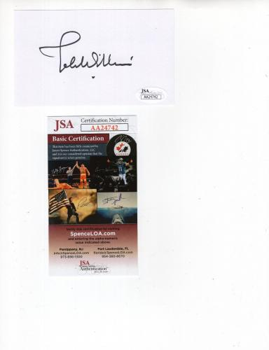 JOHN WILLIAMS HAND SIGNED 3x5 CARD         STAR WARS+JAWS COMPOSER        JSA
