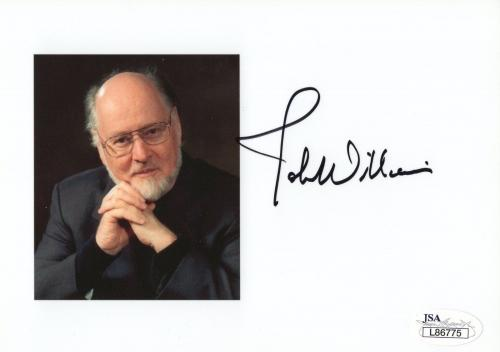 JOHN WILLIAMS HAND SIGNED 5x7 COLOR PHOTO JSA