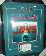 John Williams Jaws Movie Theme Song Signed Autograph Matted & Framed Psa/dna Coa
