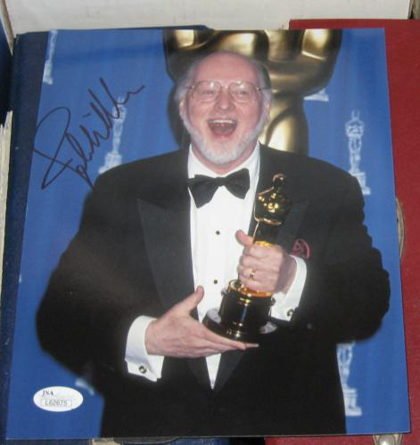 JOHN WILLIAMS MUSIC COMPOSER STAR WARS OSCAR SIGNED 8x10 PHOTO JSA AUTOGRAPHED