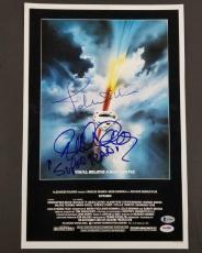 JOHN WILLIAMS RICHARD DONNER DUAL SIGNED SUPERMAN MOVIE 12x18 PHOTO PSA Inscribe