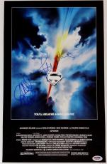 JOHN WILLIAMS RICHARD DONNER Signed SUPERMAN 11x17 Canvas Movie Poster ~ PSA COA