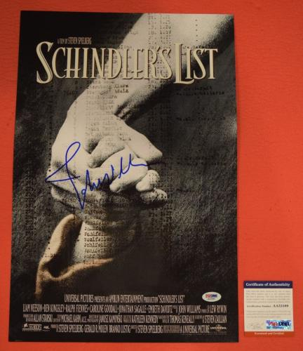 John Williams Signed Autographed Schindler's List 12x18 Movie Poster PSA/DNA COA
