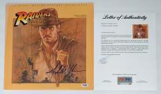 John Williams Signed Indiana Jones Raiders Of The Lost Ark Soundtrack Lp Psa Loa