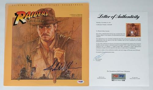 John Williams Signed Indiana Jones Raiders Of The Lost Ark Soundtrack Lp Psa Loa