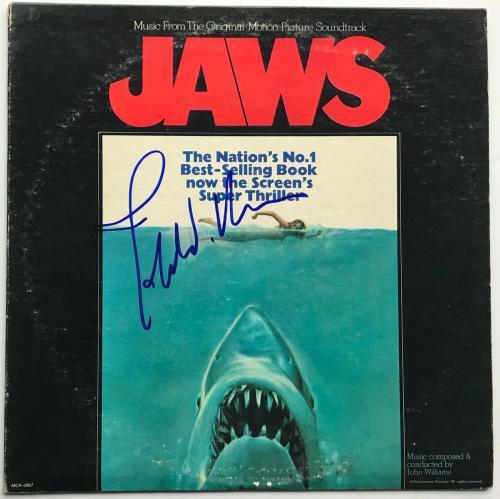 John Williams signed Jaws movie soundtrack album autographed beckett loa
