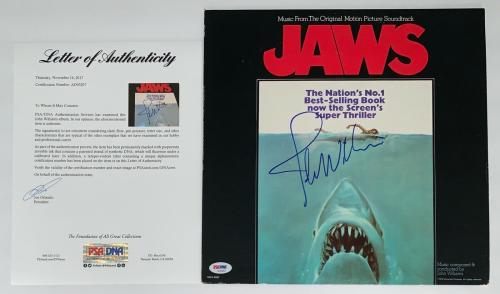 John Williams Signed Jaws Soundtrack Record Album Psa Loa Ad03207