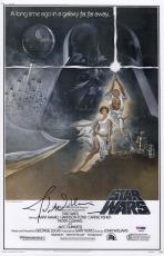 John Williams Autographed Photograph - Star Wars 11x17 Movie Poster Psa Coa P45692
