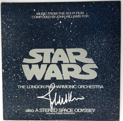 John Williams signed Star Wars album soundtrack beckett loa london orchestra lp