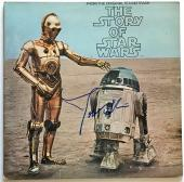 John Williams signed Star Wars album the story of star wars with beckett loa