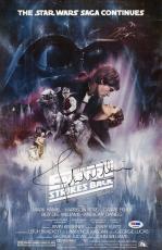 Signed John Williams Photograph - Star Wars Empire Strikes Back 11x17 Movie Poster Psa P45688