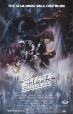 John Williams Signed Star Wars Empire Strikes Back 11x17 Movie Poster Psa P45697