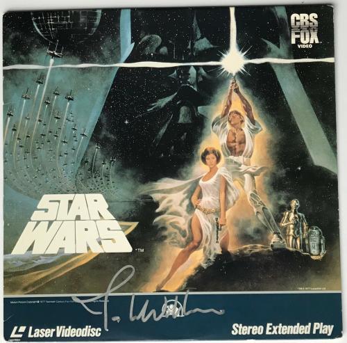John Williams signed Star Wars movie album laser disc autographed beckett loa