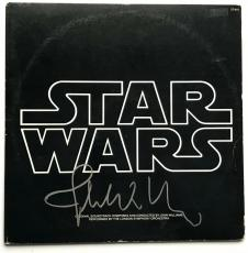 John Williams signed Star Wars movie soundtrack album autographed beckett loa