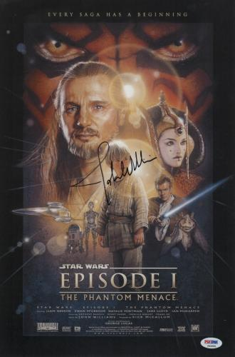 John Williams Signed Star Wars Phantom Menace 11x16 1/2 Movie Poster Psa P45695
