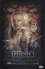 Autographed John Williams Picture - Star Wars Phantom Menace 11x16 1 2 Movie Poster Psa P45696