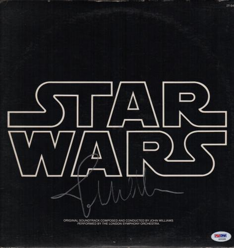 John Williams Signed Star Wars Soundtrack Record Album Psa Loa Ad03206