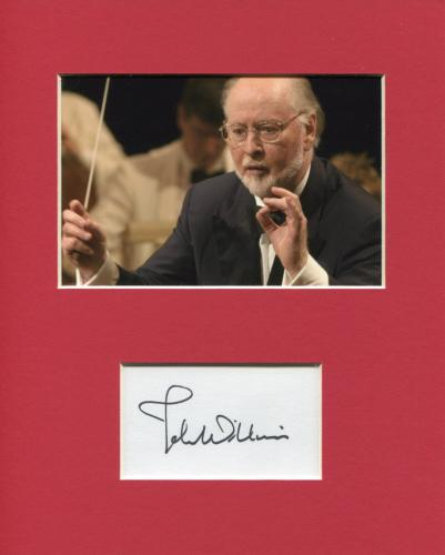 John Williams Star Wars Indiana Jones Composer Signed Autograph Photo Display