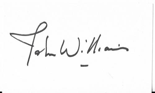 John Williams Star Wars Jaws Superman Signed Autographed 3x5 Index Card W/coa
