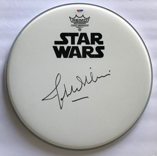 John Williams Star Wars signed drumhead autographed with psa dna coa
