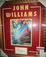 John Williams Superman Signed Autographed Double Matted & Framed Rare Jsa Coa A