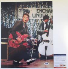 JOHNNY B GOODE!!! Michael J Fox Signed BACK TO THE FUTURE 11x14 Photo #2 PSA/DNA
