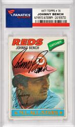 Johnny Bench Cincinnati Reds Autographed 1977 Topps #70 Card