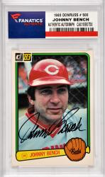 Johnny Bench Cincinnati Reds Autographed 1983 Donruss #500 Card