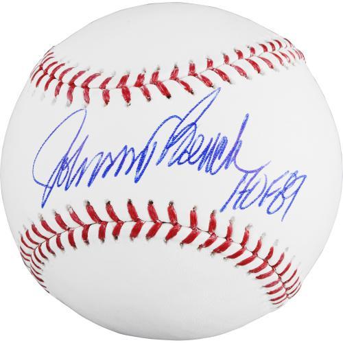 Johnny Bench Cincinnati Reds Autographed Baseball - HOF 89