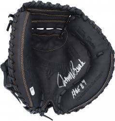 "Johnny Bench Cincinnati Reds Autographed Rawlings Catchers Mitt with ""HOF 86"" Inscription"