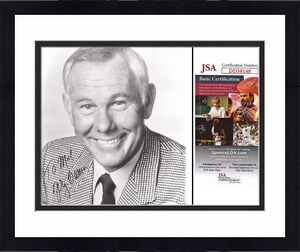 Johnny Carson Signed - Autographed Tonight Show Comedian 8x10 inch Photo - JSA Certificate of Authenticity COA