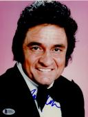 "Johnny Cash Autographed 8""x 10"" Wearing Black Suit Photograph - BAS COA"