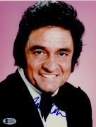 """Johnny Cash Autographed 8""""x 10"""" Wearing Black Suit Photograph - BAS COA"""