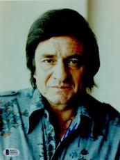 "Johnny Cash Autographed 8""x 10"" Wearing Flowered Shirt Photograph - BAS COA"
