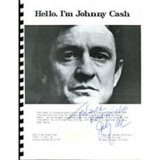 "Johnny Cash Autographed ""Hello,I'm Johnny Cash"" Fan Club Book"